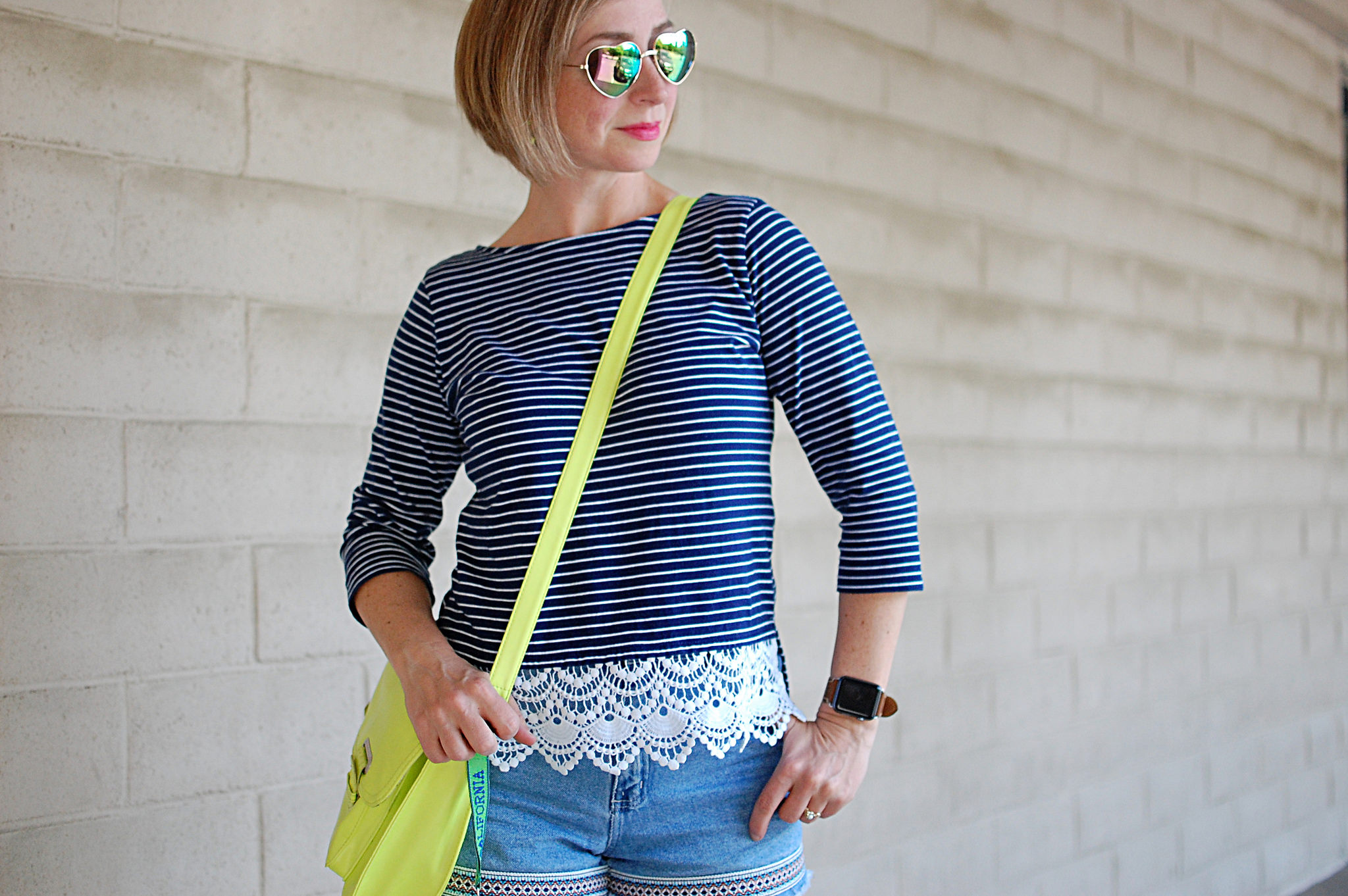 nautical memorial day neon navy crochet ootd whatiwore2day