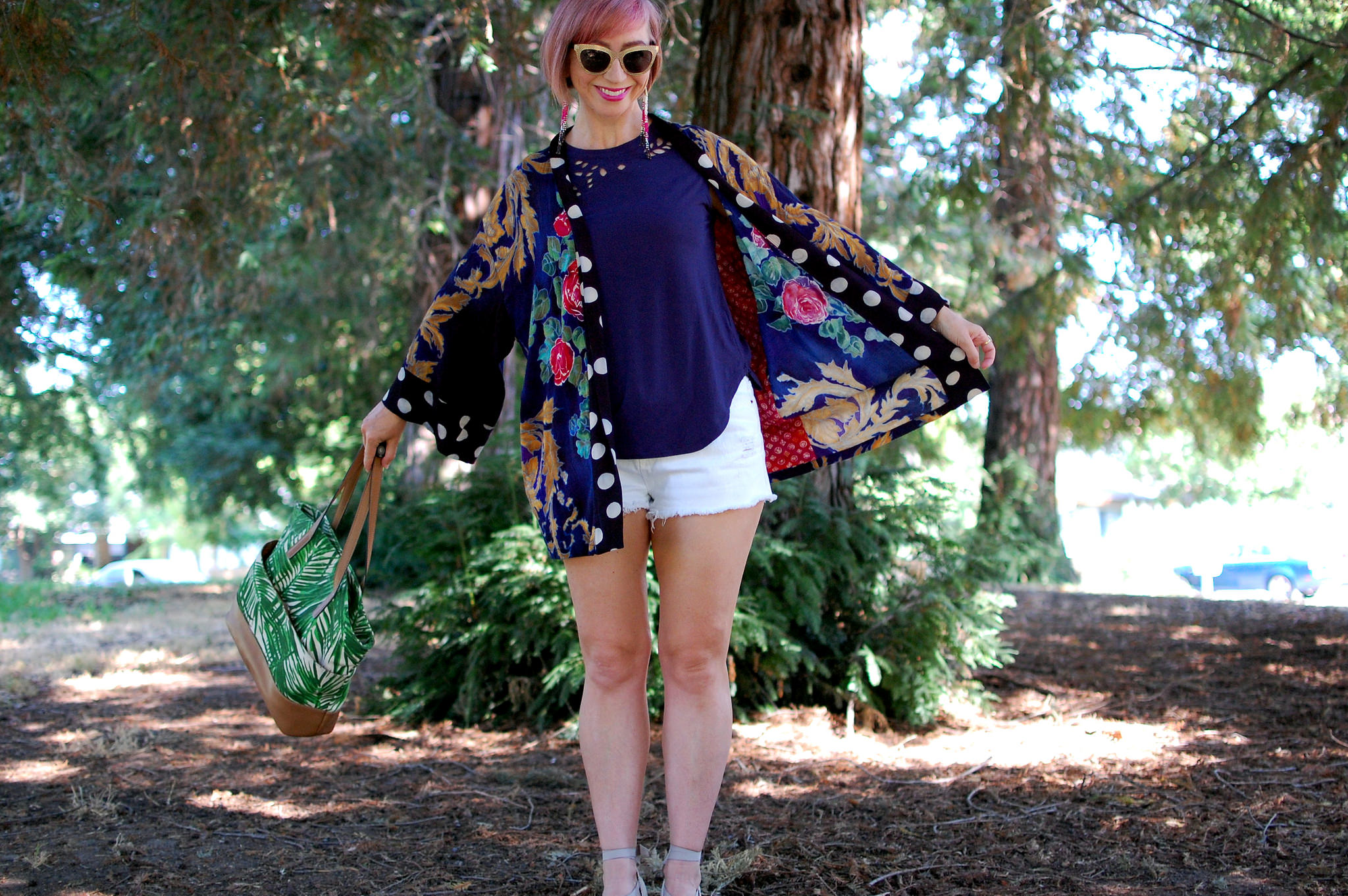 kimono pattern mix daily outfit blog ootd whatiwore2day