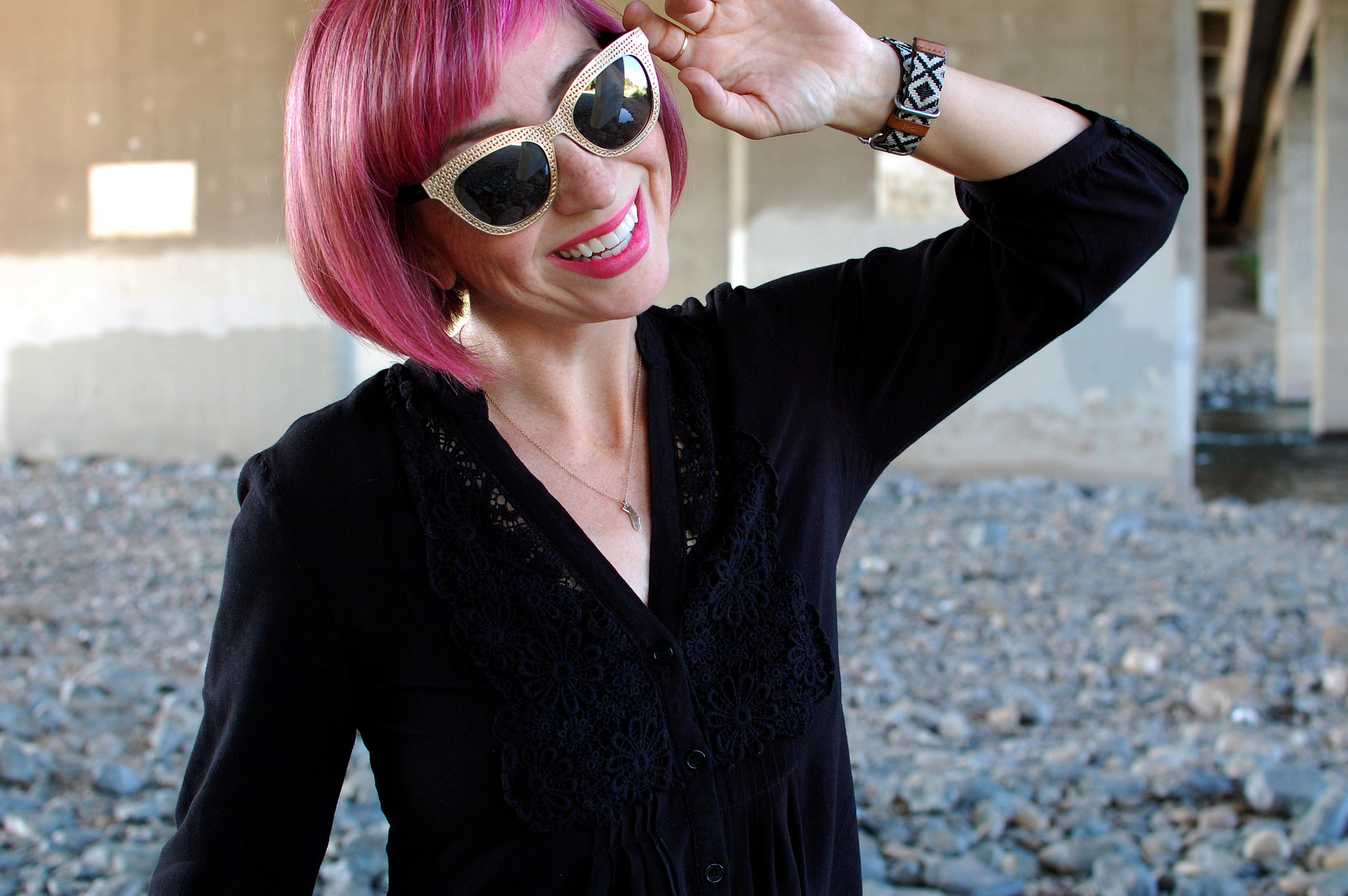 pink bob bangs hair daily outfit blog ootd whatiwore2day