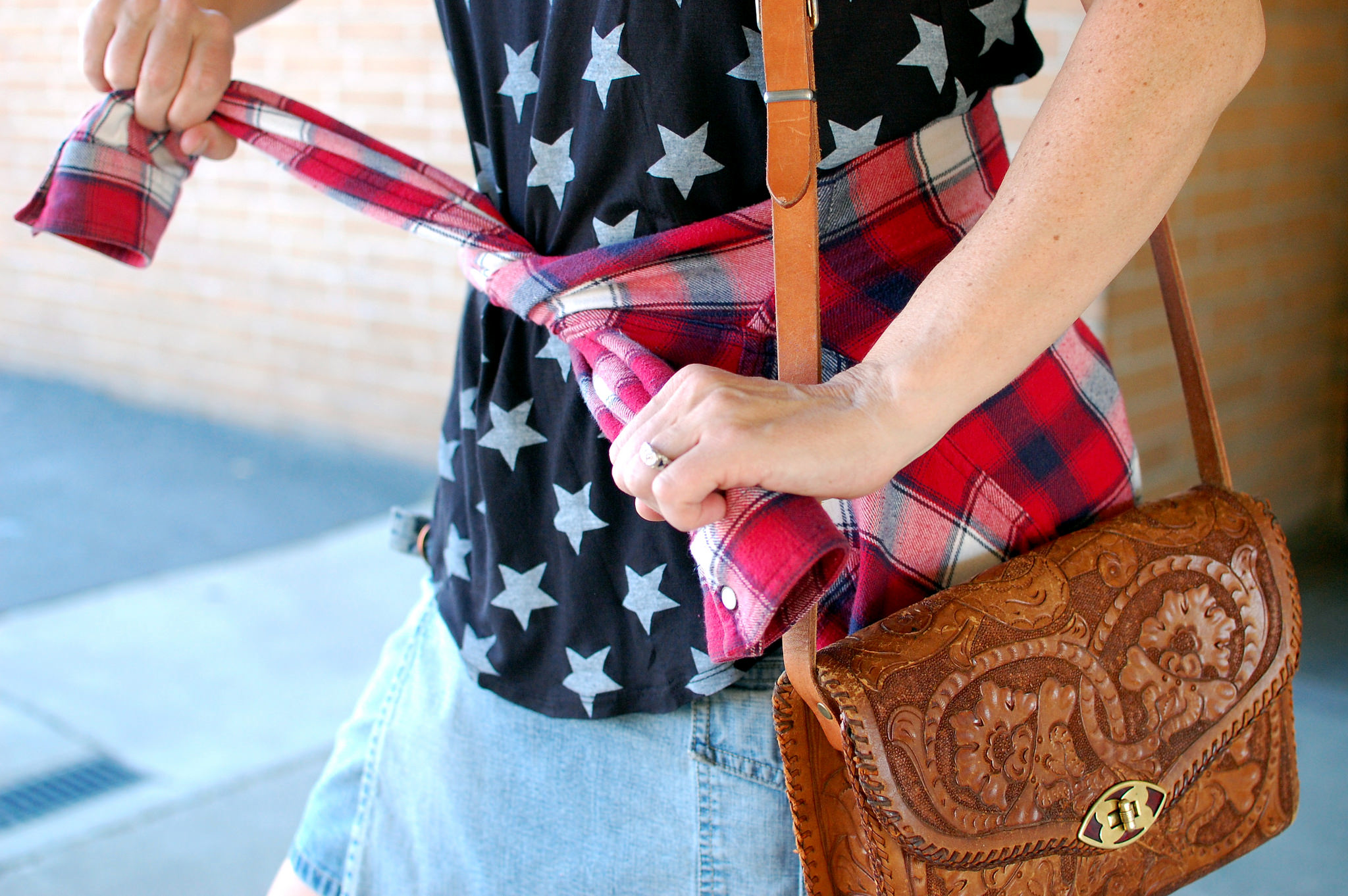 stars plaid 4th of july holiday patriotic navy red daily outfit blog ootd whatiwore2day