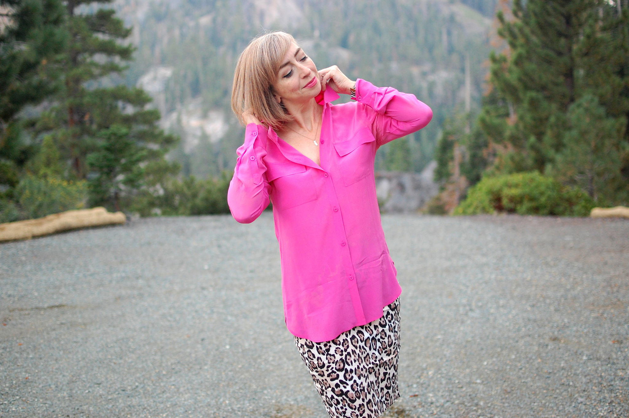pink leopard business casual ootd daily outfit blog whatiwore2day