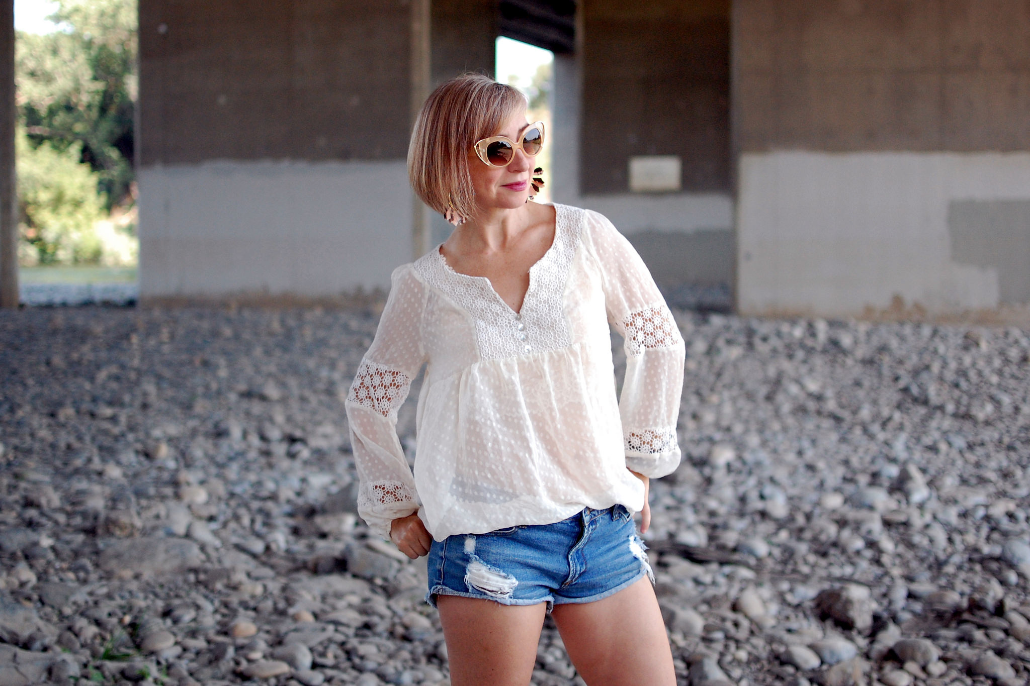 sheer peasant blouse ootd daily outfit blog whatiwore2day