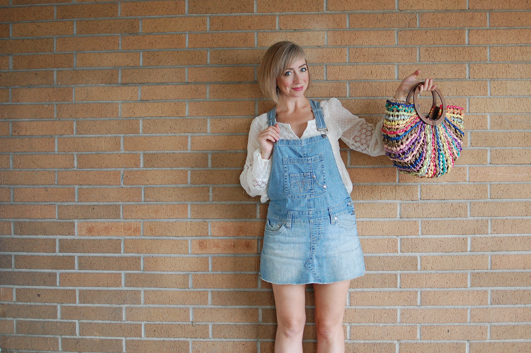 boho overalls 100% thrifted casual daily outfit blog weekend wear ootd whatiwore2day