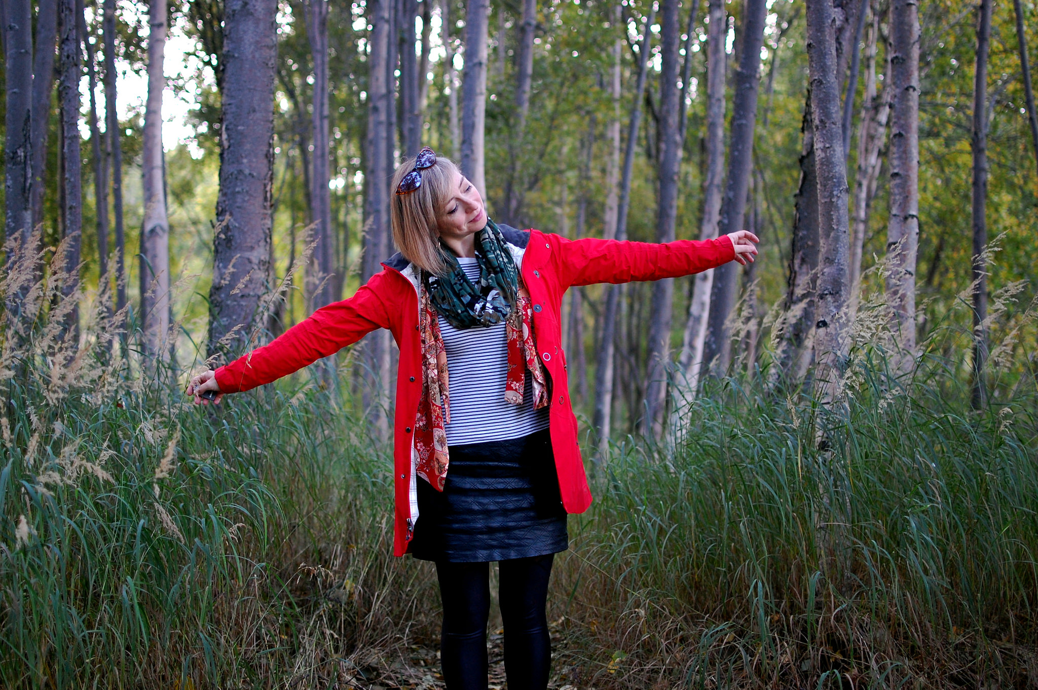 raincoat alaska fall daily outfit blog ootd whatiwore2day