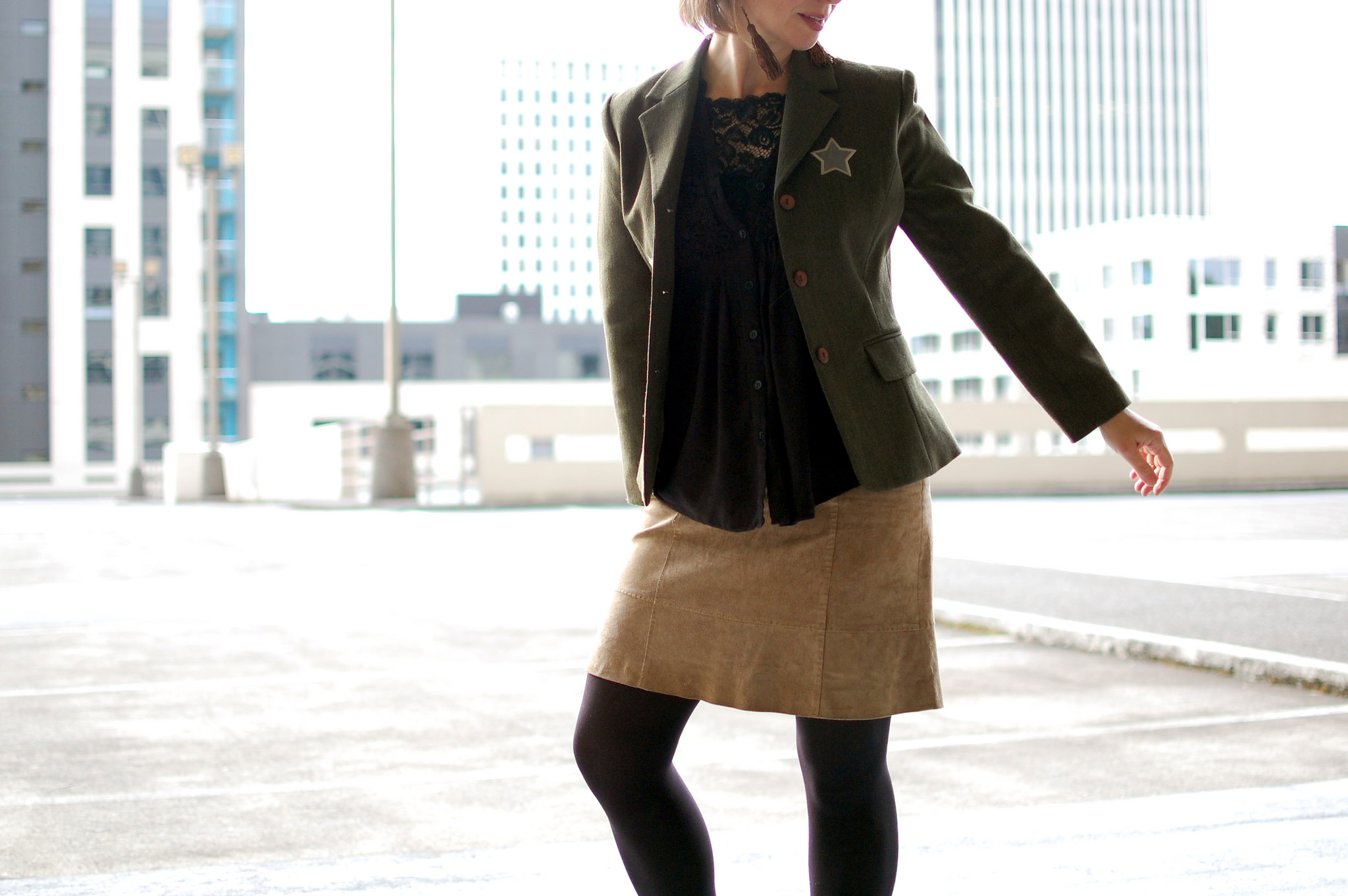 daily outfit blog ootd whatiwore2day military blazer