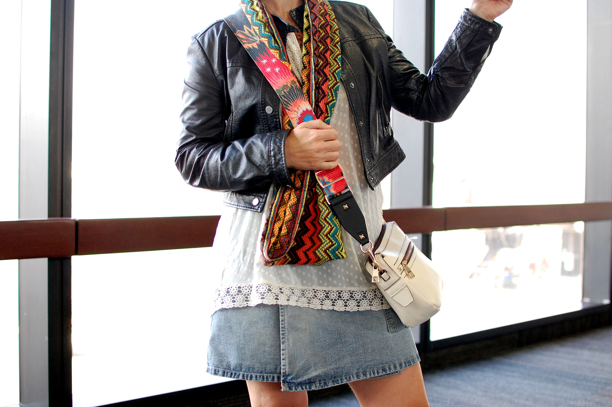 missoni knockoff scarf guitar strap purse daily outfit blog ootd whatiwore2day