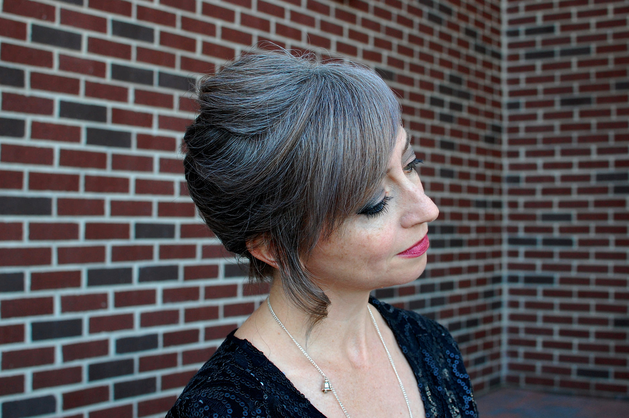 daily outfit blog gray hair whatiwore2day