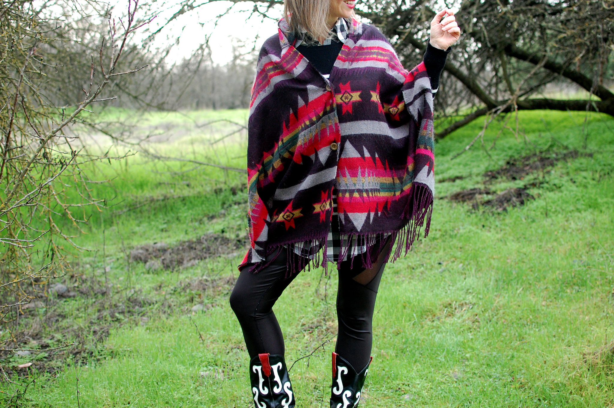 poncho ootd daily outfit blog whatiwore2day southwestern