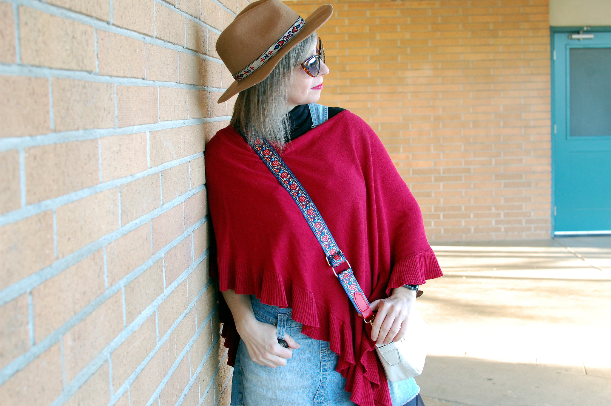 poncho hat western ootd whatiwore2day daily outfit blog