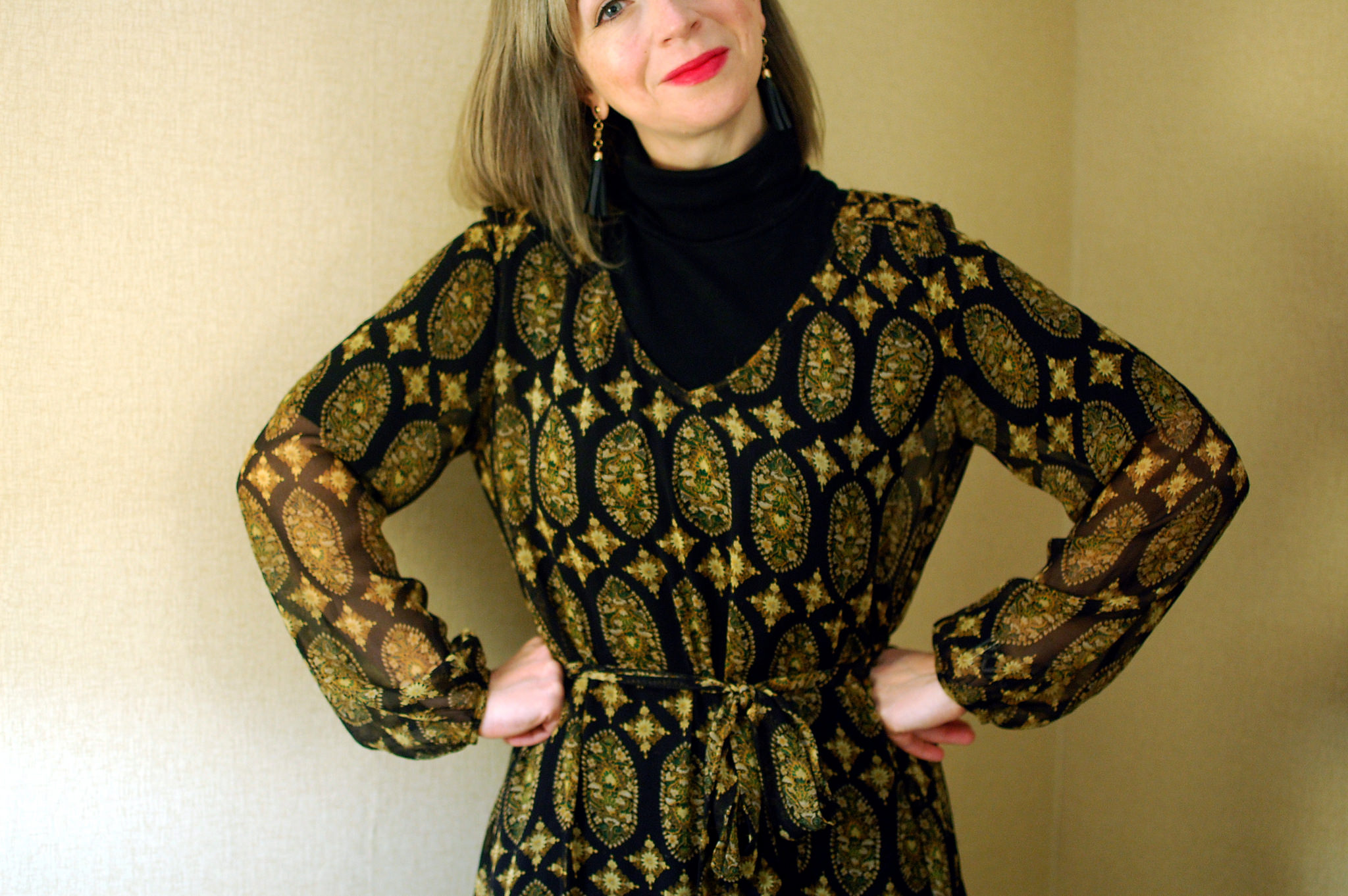 turtleneck under sheer dress daily outfit blog ootd whatiwore2day