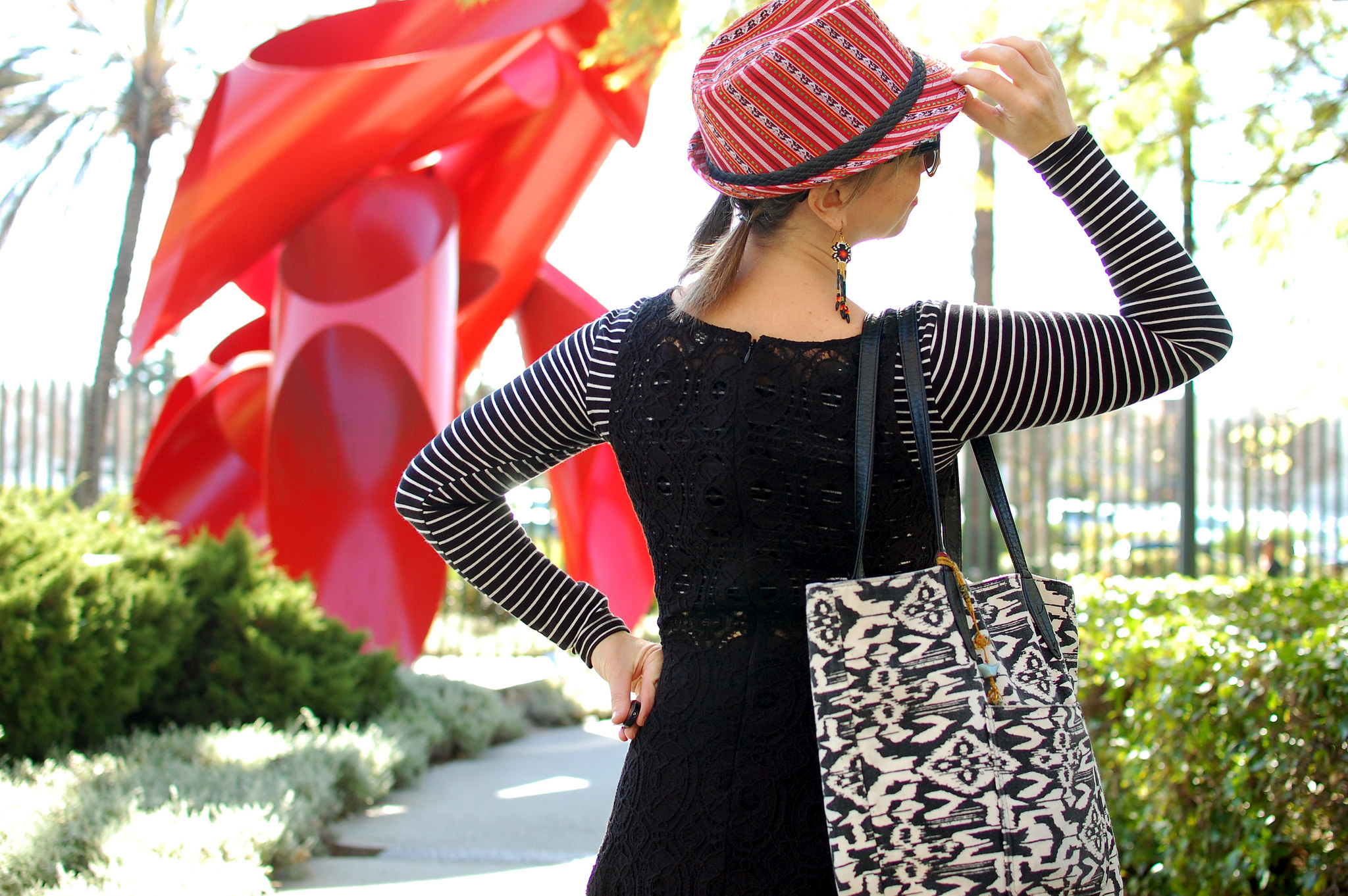 hat lacma la brea tar pit tourist ootd daily outfit blog whatiwore2day